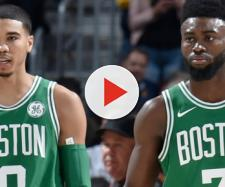 Jayson Tatum and Jaylen Brown will try to propel the Boston Celtics to a big Game 7 win tonight over Cleveland. - [NBA / YouTube screencap]