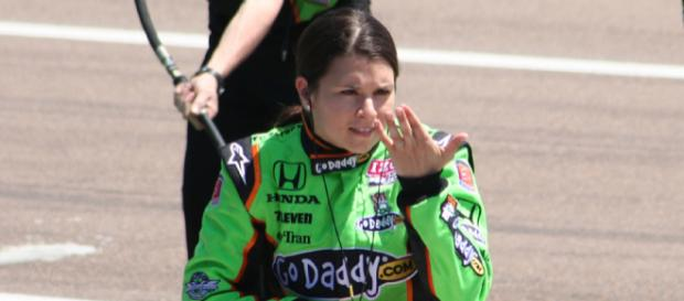 Danica Patrick crashes in her final race of her career. - [Photo Credit: Nickledford / Wikimedia Commons]
