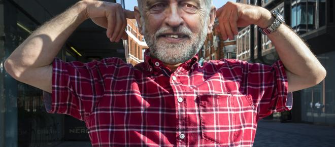 Jeremy Corbyn is awarded an honour from the Beard Liberation Front