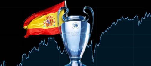 Dominio de España en los torneos de fútbol europeo.