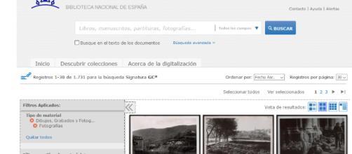 Vistazo del visor donde localizar y consultar las 11 000 fotografías de la Guerra Civil