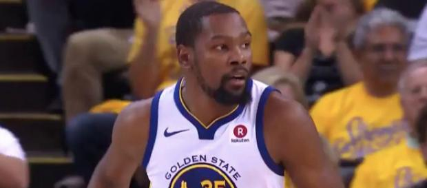 Kevin Durant and the Warriors will try to win Game 7 in Houston to advance to the NBA Finals. [Image via NBA/YouTube]