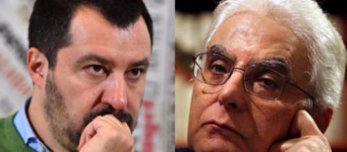 Scontro aperto tra Matteo Salvini e Sergio Mattarella