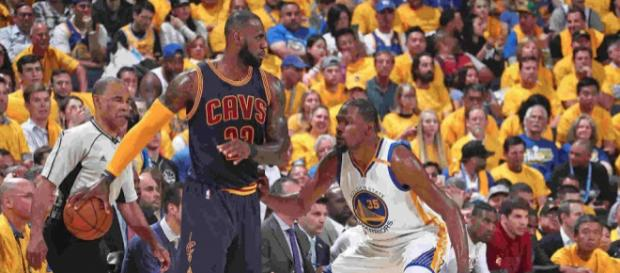 LeBron James and Kevin Durant will meet for their third time in the NBA Finals. [Image via NBA/YouTube screencap]