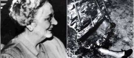 Mary Reeser e seu apartamento depois do incêndio