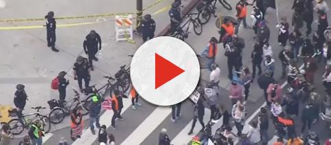 Gun control demonstrations - Image credit CBS News | YouTube