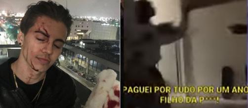 As imagens mostram a briga entre Biel e Duda (Reprodução/YouTube)