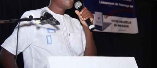 Grégoire Sowadan à l'occasion de lancement de son livre ''Vivre heureux en ménage''