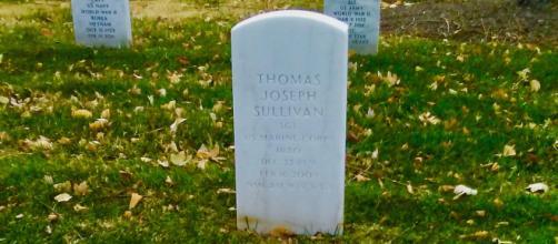 Headstone of Marine Sergeant Thomas J. Sullivan [Daniel Sullivan]