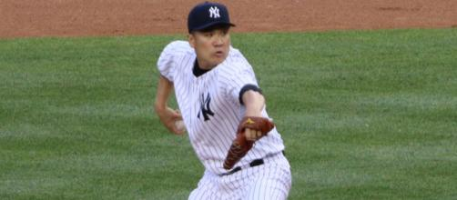 Masahiro Tanaka didn't have his dominant stuff but battled through his game against Boston. - [Arturo Pardavilla III / Wikimedia Commons]