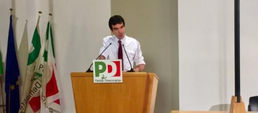 Maurizio Martina parla in Direzione nazionale del PD (Fonte: Twitter Maurizio Martina)