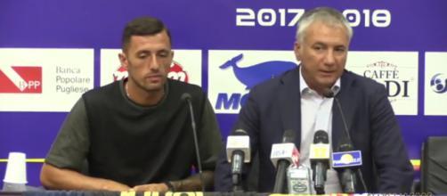 Meluso, diesse del Lecce con Armellino.