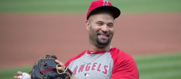 Albert Pujols will soon become the 32nd member of the 3,000 hit club. Image Source: Flickr | Keith Allison
