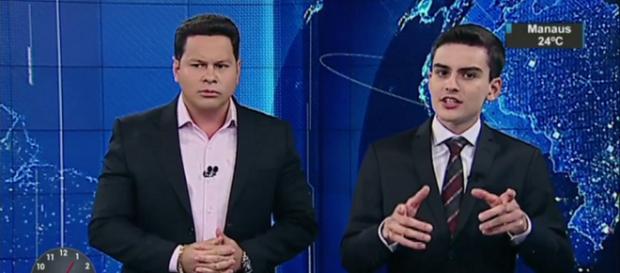 apresentador do SBT não gostou de saber o valor do salário do colega de emissora