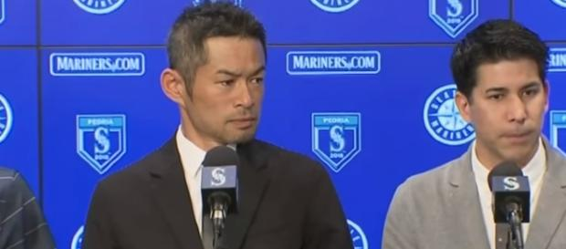 Ichiro Suzuki press conference. - [Seattle Mariners / YouTube screencap]