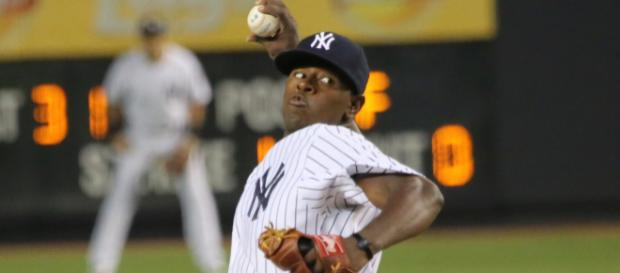 Luis Severino dominated the Astros lineup all night long. [Photo via Yankees/Wikimedia Commons]