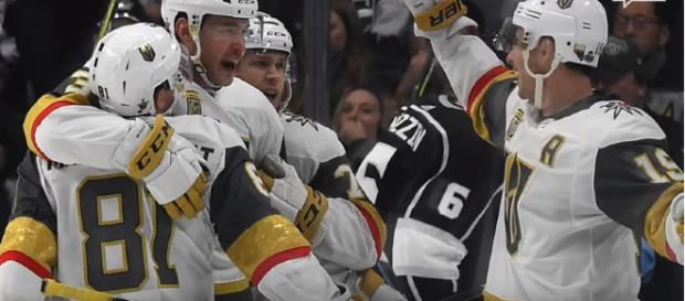 Vegas after defeating Los Angeles in round one - image - USA Today/YouTube