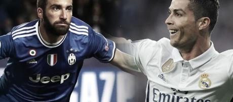 Gonzalo Higuain et Cristiano Ronaldo