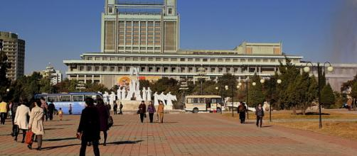 Fountain Park in Pyongyang city, DPRK (Image credit – Calflier001, Wikimedia Commons)