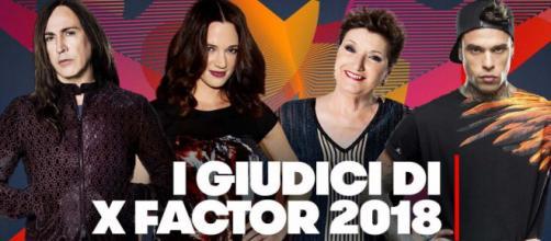 I quattro giudici di X Factor 2018