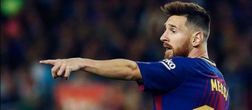 Leo Messi durante un partido del FC Barcelona