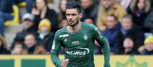 Rémy Cabella sous le maillot de l'AS Saint-Etienne