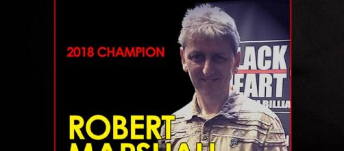 Robert Marshall, an ex snooker pro made history in Stockport (photo courtesy of event creator Jason Lawrence