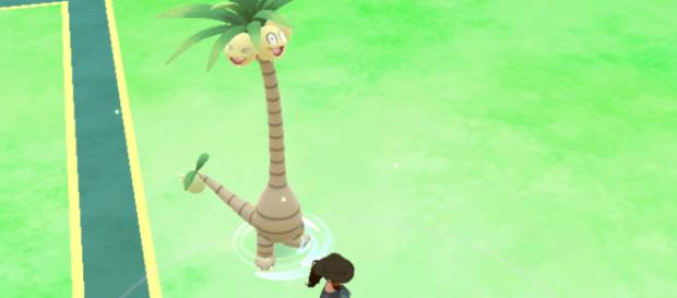 . Alolan Exeggutor looks radically different from its regular form, so it should be easy to spot.- Image - In-game Screenshot by Sierra Hawkins