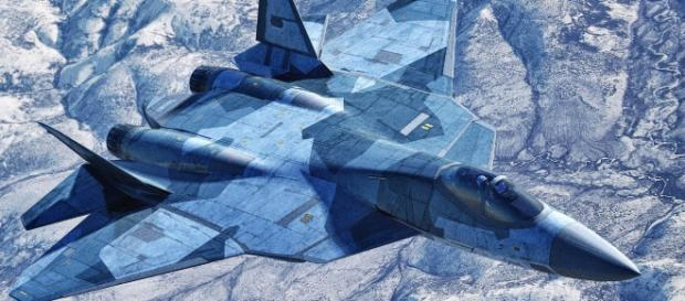The SU -57 file photo- [Image credit - Russian weapons/youtube]