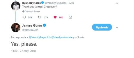 El dialogo de James Gunn con Ryan REynolds