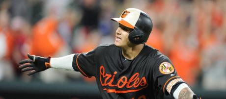 Manny Machado in the Old English D? [Image via USA Today Sports/YouTube]