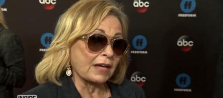 Roseanne Barr goes on a racist Twitter tyrant. [Image source: InsideEdition/YouTube]