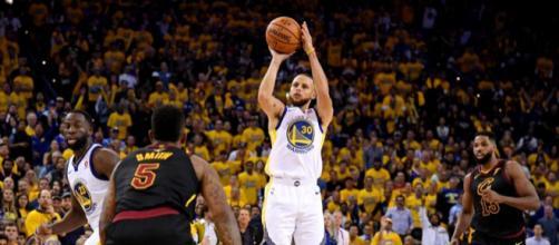 Curry fue el MVP de los Warriors en el Juego 1. NBA.com.