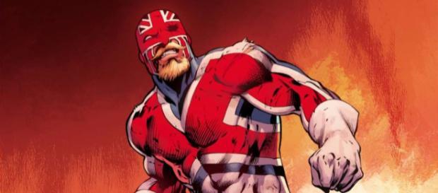 Imagen del comic del Captain Britain