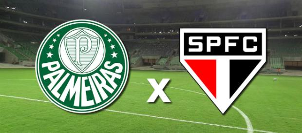Palmeiras x São Paulo, neste sábado (foto reprodução).