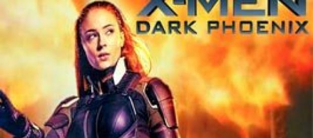 Póster de X-Men Dark Phoenix en llamas