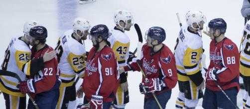Capitals vs Penguins will battle it out in the NHL playoffs. [image source: Keith Allison - Flickr]