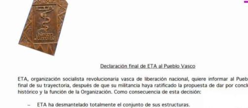 Declaración final de ETA al Pueblo Vasco
