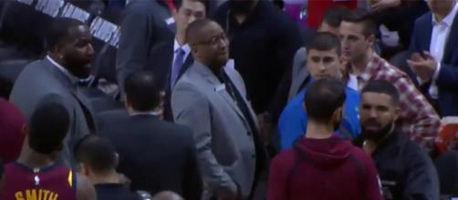 Drake and NBA Player Kendrick Perkins Get Into Heated Argument [Image via XXLmag/Youtube]