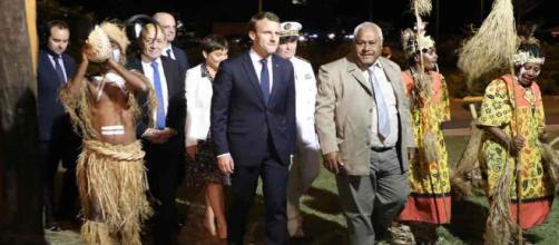 Emmanuel Macron en visite officielle en Nouvelle-Calédonie