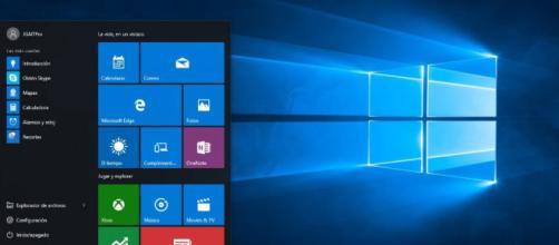 Escritorio y menu de windows 10