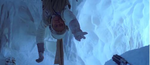 Luke reaches for his lightsaber in 'The Empire Strikes Back.' StarWars/YouTube