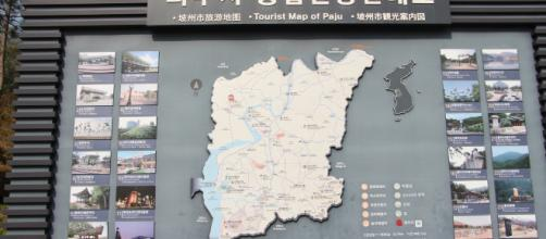 Map of the DMZ or De-militarised Zone for tourists - Flickr