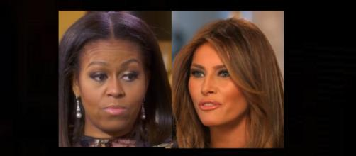 Michelle Obama may have verbally slapped Melania Trump. Photo: CNN/YouTube Screenshot