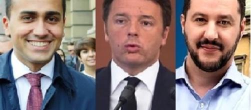 Renzi, Di Maio e Salvini (Foto di - bolognatoday.it)