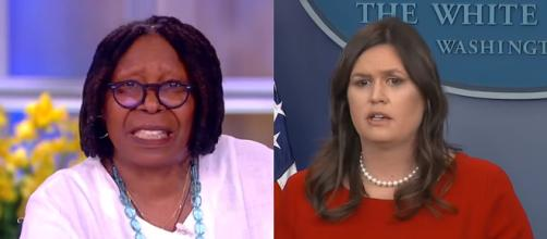 Whoopi Goldberg, Sarah Huckabee Sanders, via YouTube