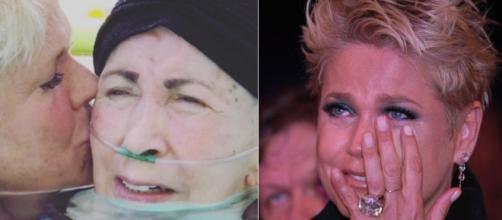 Xuxa e Dona Alda, mãe da apresentadora