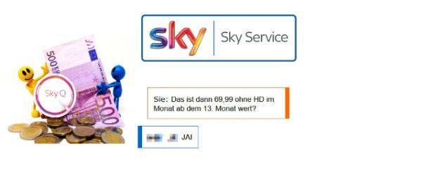 Sky findet sein Abo 69,99 EUR ohne HD wert / Symboldbild + Montagen; Bildrechte: Alexa Fotos, Sky Italy Facebook, Sky, Screenshots privat