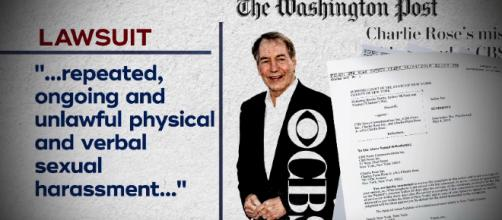 3 women have filed lawsuits against CBS and Charlie Rose. [image source: CBS Evening News - YouTube]