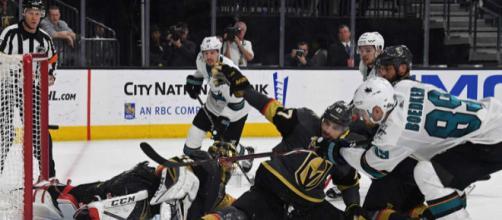 Los Sharks pudieron evitar la remontada de los Knights. NHL.com.